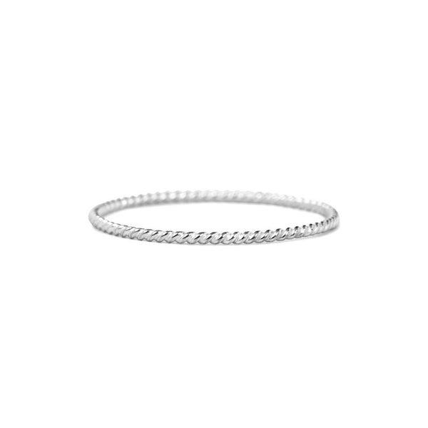 Silver Skinny Twist Ring
