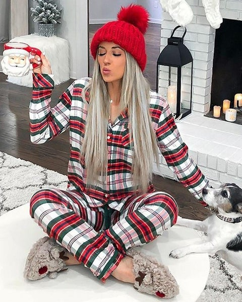 Christmas Plaid Pajama set