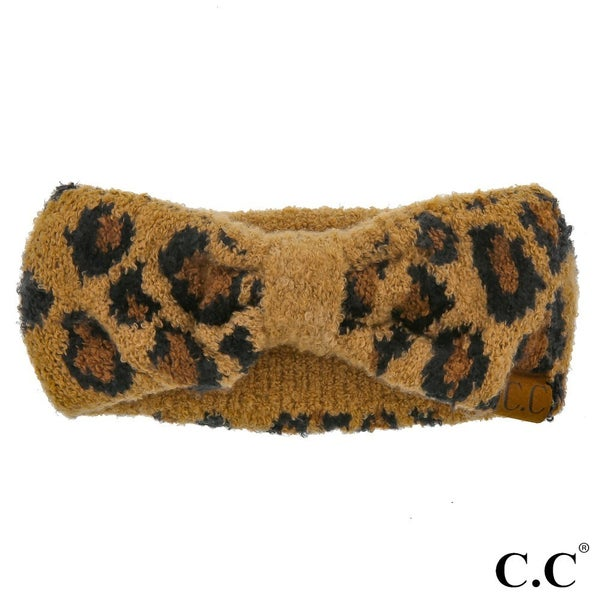Leopard Jacquard Knit Headwrap