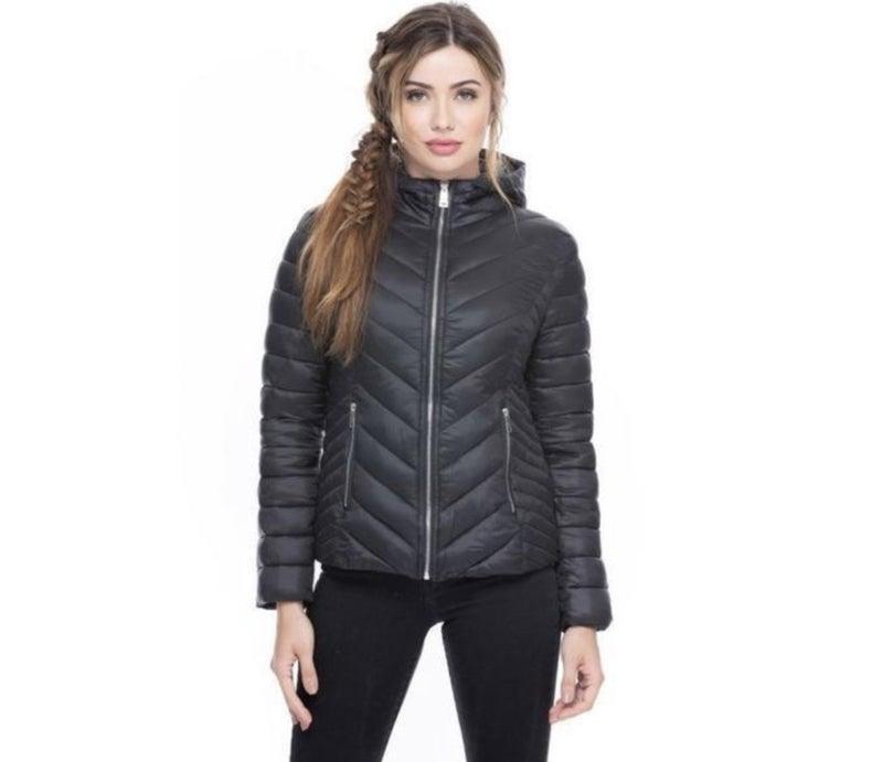 Black Keep It Wavy Hooded Coat *Final Sale*