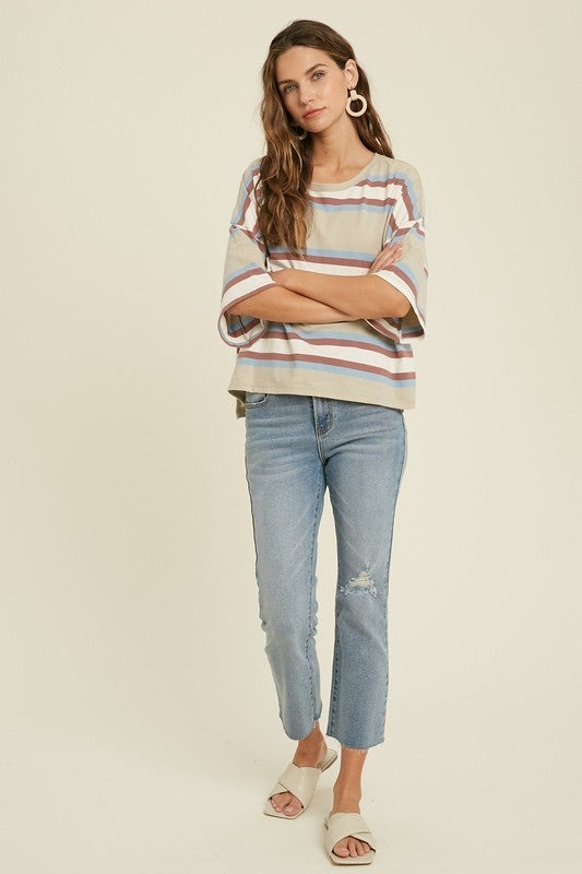 Oversized Stripe T-Shirt