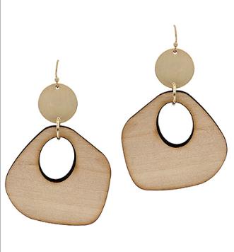 Uneven Gradual Wood Earrings