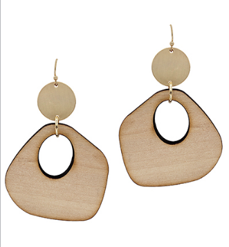 Uneven Gradual Wood Earrings