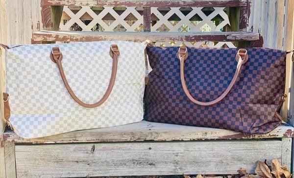 Checkered Weekender Bag