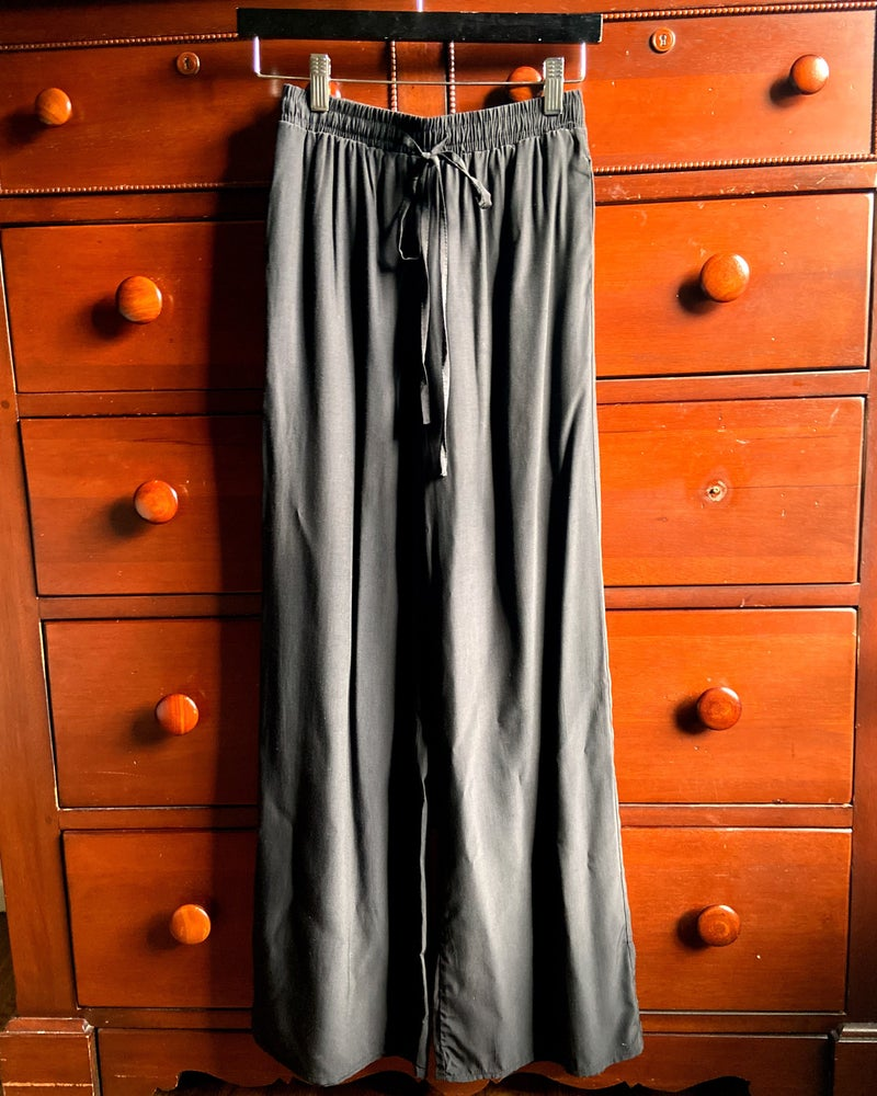 Sage The Label Rocky Wide Leg Pant in Black