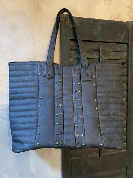 Charcoal Vegan Leather Tote