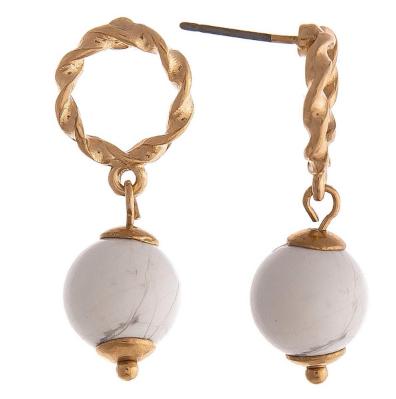 Stone Drop Earrings *Final Sale*