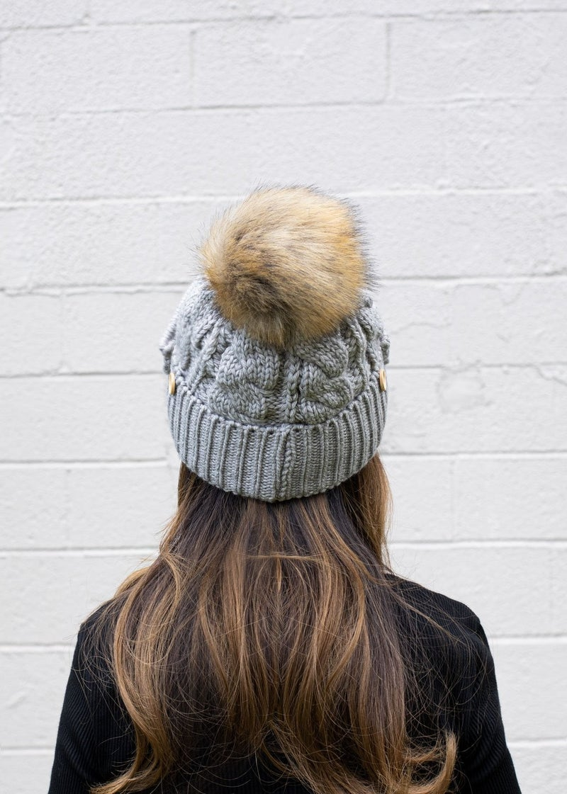 Pompom Hat with Ribbed Mask