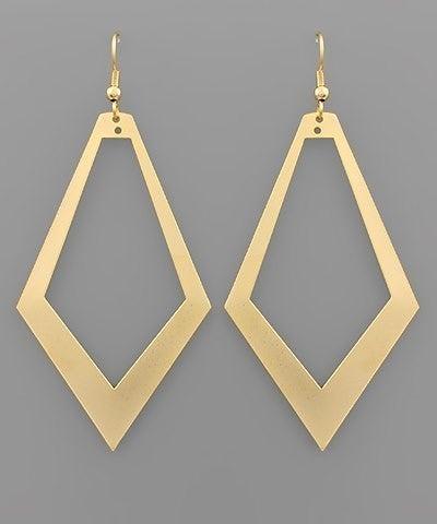 Cut-Out Rhombus Earrings
