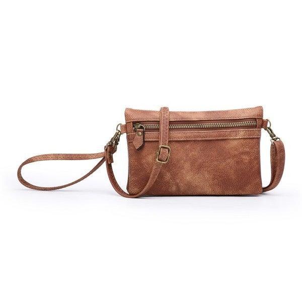 Distressed Brown Wallet/Crossbody