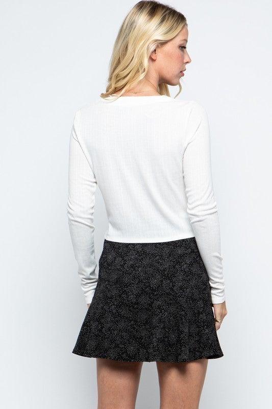 Amelia Textured Ruffle Mini Skirt