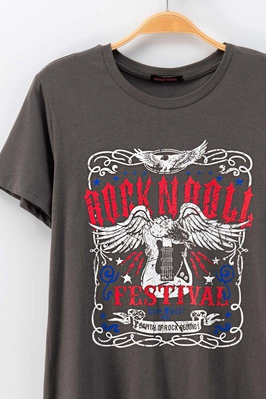 Rock N Roll Festival Graphic Tee