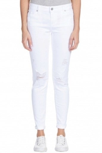 Elan White Jeans With Distressing *Final Sale*
