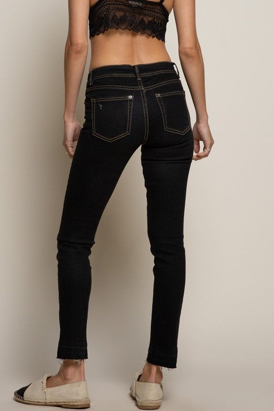Distressed Skinny Black Denim *Final Sale*