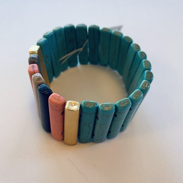 Turqouise Stretch Tile Bracelet