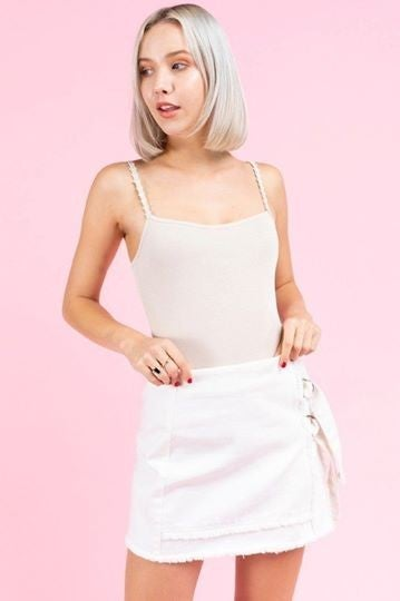 Daisy Lace Ribbed Bodysuit