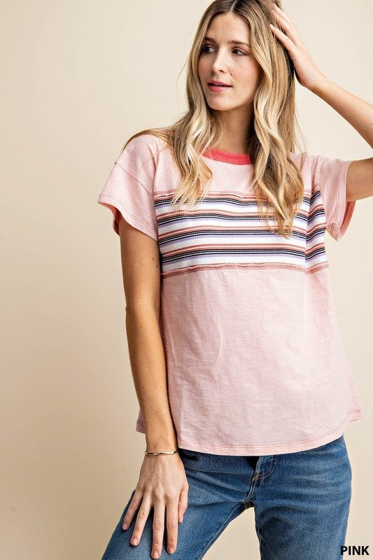 Stripe Patch T-Shirt *Final Sale*