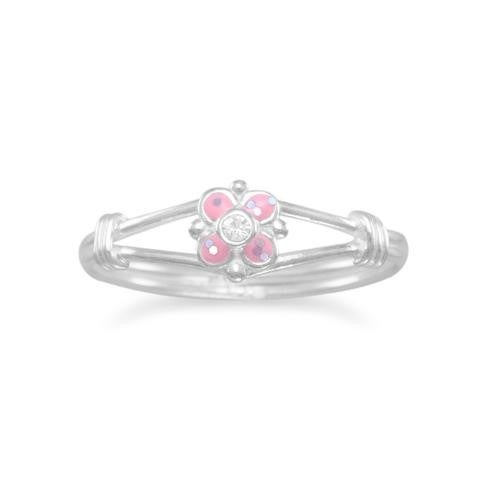 Pink Flower Ring - Size 5