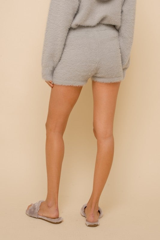 High Waist Snuggy Sweater Shorts