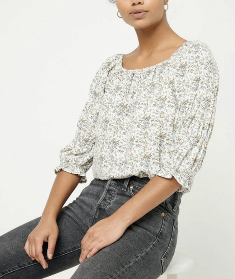 Square Neck Cinched Top