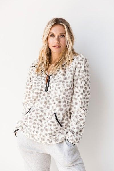 Leopard Grey Pullover *Final Sale*