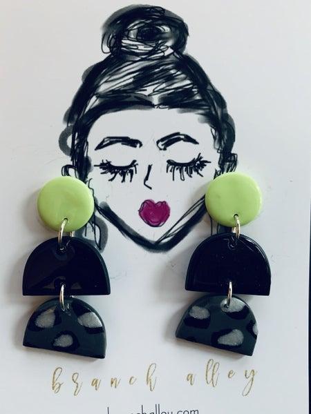 Night Leopard Earrings