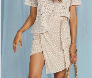Neutral Wrap Skirt