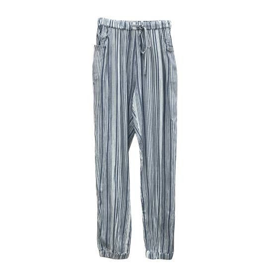 Woven Striped Joggers