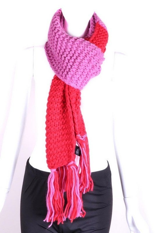 Knit Color Block Scarf