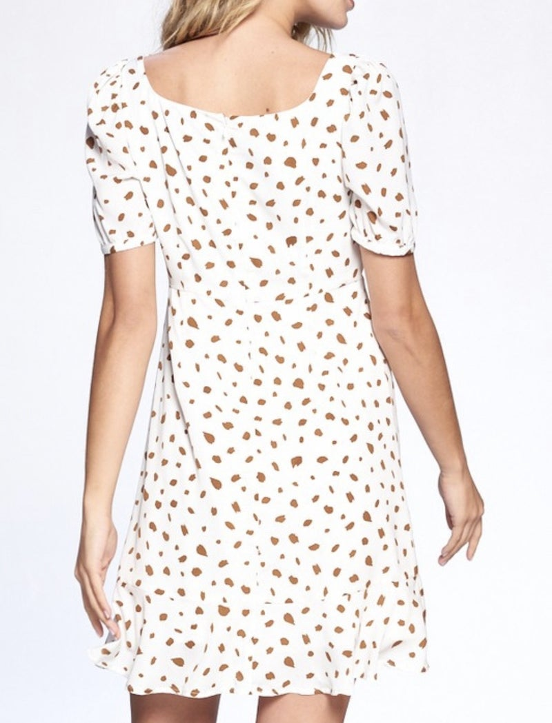 Animal Print Puff Sleeve Mini Dress *Final Sale*