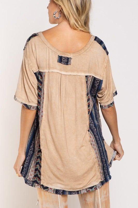 Shaken Aztec Knit Top