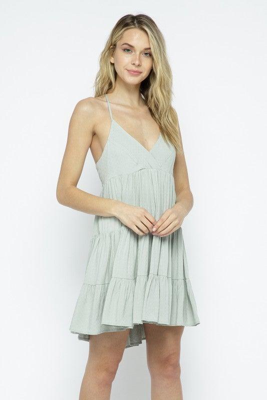Mint Babydoll Dress