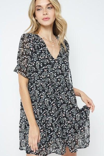 Mini Babydoll Chiffon Dress