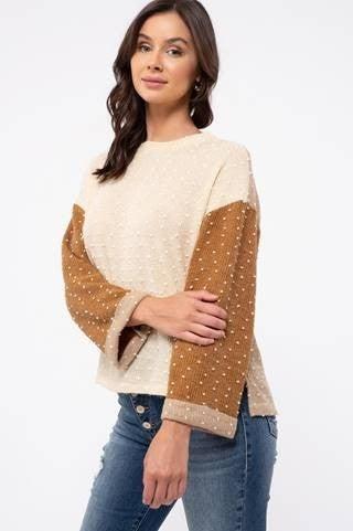 Multi-Tone Swiss Dot Sweater