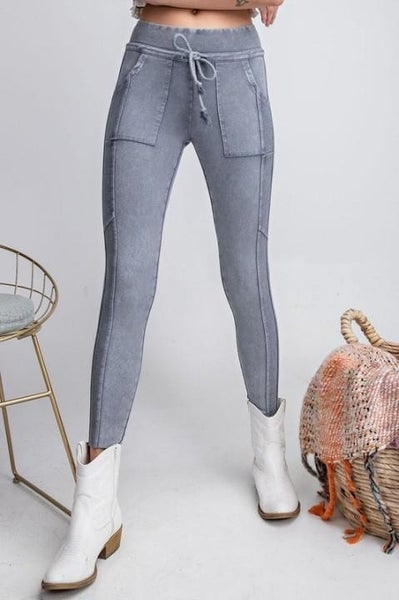 Casual Washed Leggings