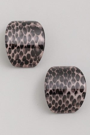 Dotted Curved Acetate Stud Earrings