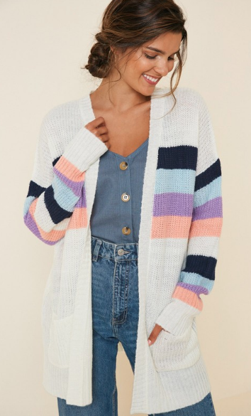 Stripe Pocket Cardigan *Final Sale*