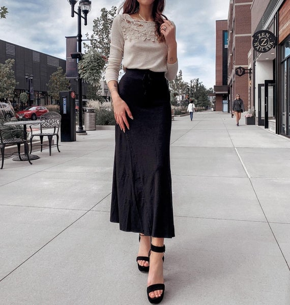 Long Black Maxi Skirt *Final Sale*