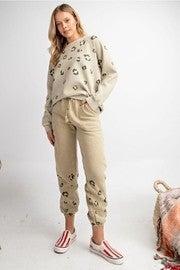 Leopard Washed Sweatpants