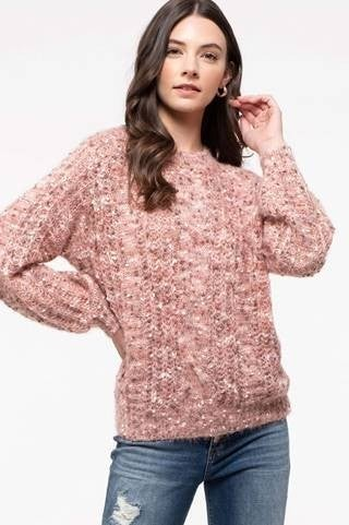 Dusty Pink Crew Neck Sweater
