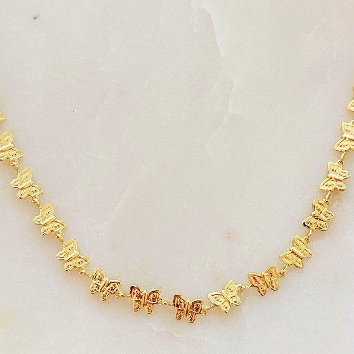 Row of Butterflies Choker Necklace