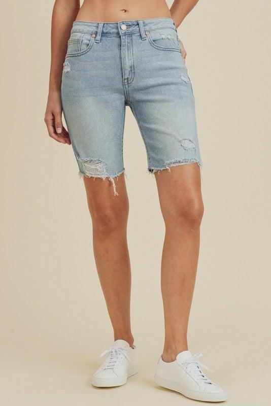 Distressed Bermuda Shorts *Final Sale*