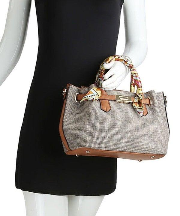 Fashion Linen Scarf Satchel