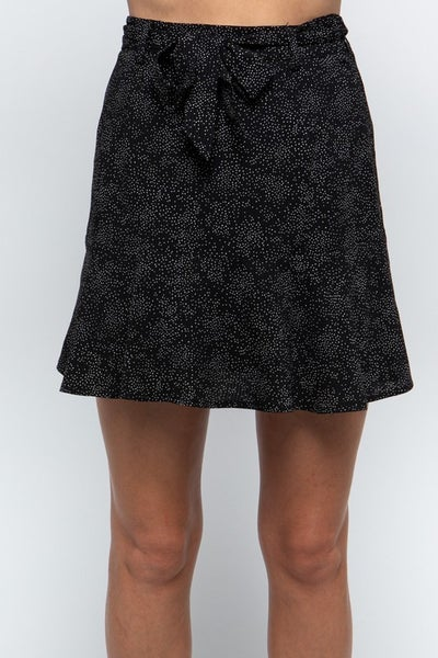 Amelia Textured Ruffle Mini Skirt
