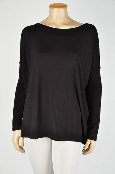 Bamboo-Spandex Basic Long Sleeve Tee