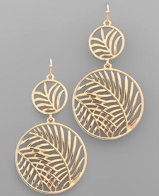 Palm Cut Disc Earrings