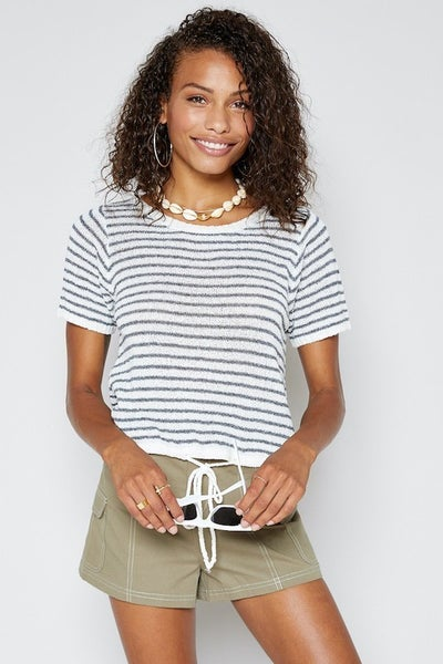 Centro Stripe Knit Top