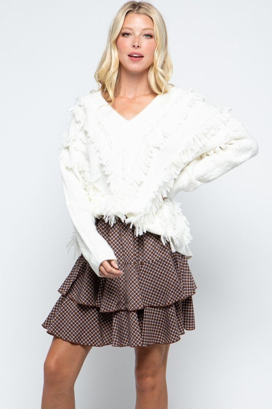Elsa Shaggy Detail Sweater