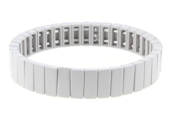 Rectangular Metal Shape Stretch Bracelet