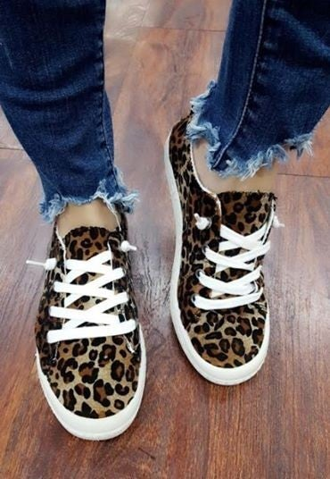 Leopard Print Comfort Sneaker